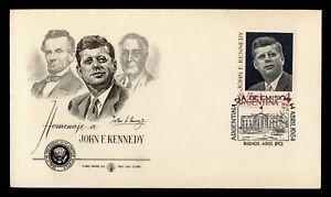 DR WHO 1964 ARGENTINA FDC JFK  C244683