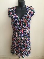 New Look Kelly Brook Floral Rockabilly Playsuit Size 8 Pin Up Summer Beach Party