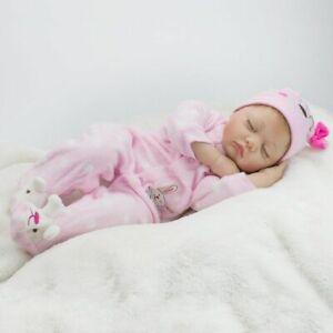 22'' Reborn Baby Doll Soft Handmade Lifelike Newborn Girl Realistic Toys Gifts