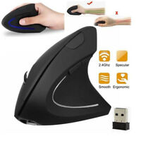 2.4G Wireless vertical ergonomic 1600DPI optical mouse for PC _gu