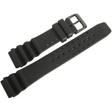 20mm Bonetto Cinturini 285 Black PVD BUCKLE Italian Rubber Dive Watch Band Strap