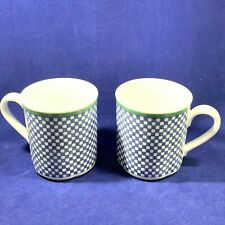 2 Villeroy & Boch Switch 3 Castell Coffee Mugs Checked Matches Costa Cordoba