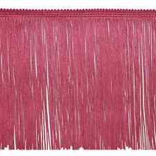 "By Yard 6"" Dark Rose Pink Chainette Fabric Fringe Lampshade Lamp Costume Trim"