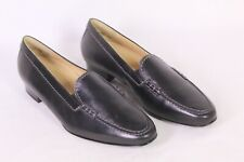 C689 Theresia M. Damen Pumps Schuhe Slipper Loafer Leder schwarz Gr. 38,5 (5,5H)
