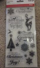 Recollections Christmas 2016 Clear Stamps - Holiday Wishes -#723