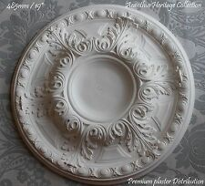 "Plaster Ceiling Rose Acanthus 485 mm / 19"" UK Including Adhesive & Fixings"