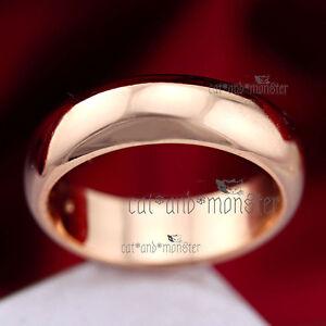 18K YELLOW ROSE PLAIN GOLD GF MENS WOMENS ENGAGEMENT WEDDING ETERNITY BAND RINGS