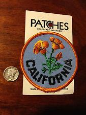 Vintage California Poppy Holm Patches USA, Park Ski Travel Souvenir Patch