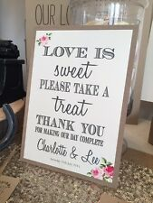 Vintage/Rustic 'Charlotte' Sweet Sign for Weddings, Parties, Christenings etc