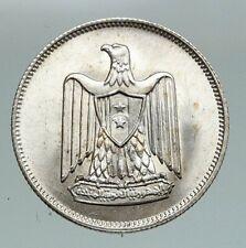 1960 1380AH EGYPT Eagle of SALADIN Antique VINTAGE Silver 5 Qirsh Coin i91165