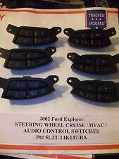 2002 Ford Explorer STEERING WHEEL CRUISE & AUDIO HVAC SWITCH s 5L2T-14K147-BA