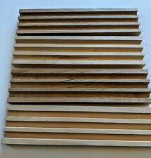 Set Of 4 Wood Domino Trays Holds 15 Dominoes per tray