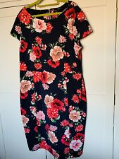 Dorothy Perkins Navy Floral Bodycon Dress Size 20