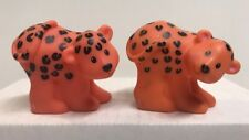 Fisher Price Little People Noah's Ark Pair Of Cheetah / Leopard Figures