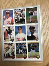1993 O-Pee-Chee Premier Baseball Uncut Sheet