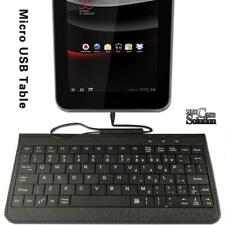 """Micro USB Leather Keyboard Plug and play For Various 7"""" 8"""" NuVision Tablet"""