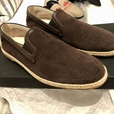 New Men's Dolce & Gabbana Brown Suede Raffia loafers Size 10 RRP £450.00