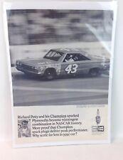 1967 Champion Spark Plugs Richard Petty Darlington Southern 500 Race Car 43 Ad