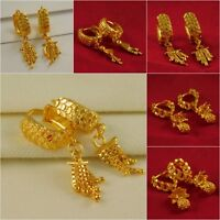 Indian Goldplated Wedding Traditional Bollywood Hoop Earrings Fashion Jewelry