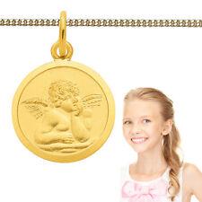Namen Gravur Schutz Engel Anhänger Echt Silber 925 vergoldet mit Kette zur Wahl