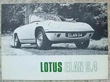 LOTUS ELAN S4 USA Car Sales Brochure c1969