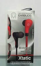 Mental Beats Xtatic High Performance Bass and Sound Earbuds w/ Microphone - Red