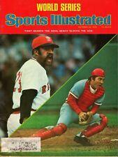 Sports Illustrated October 20, 1975 WORLD SERIES Tiant Beards, Bench Blocks Sox