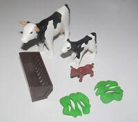Playmobil Animal Ferme Lot Vache Vachette Veau & Accessoires NEUF