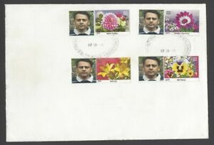 India 2012 Personalized stamps Flowers set of 4 pairs on FDC