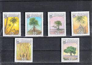 TUVALU 1990 TREES SET  MNH VF