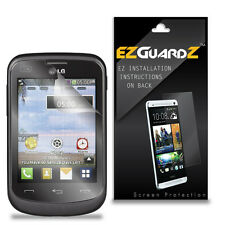 4X EZguardz LCD Screen Protector Skin Cover Shield HD 4X For LG 305C (Clear)