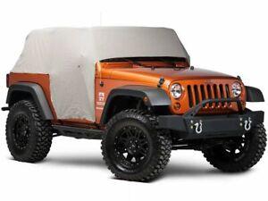 Smittybilt Water Resistant Cab Cover with Door Flaps; Gray (07-18 Jeep Wrangler