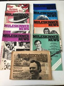 Lot of 9 MULESKINNER NEWS Bluegrass magazines 1975