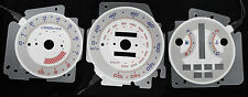 160MPH Generation 3 G3 White Face Glow Gauge Face For 92-95 Honda Civic EX Si