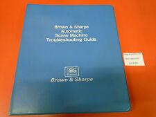 B96 Browne & Sharpe Automatic Screw Machine Troubleshooting Guide Service Manual
