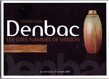Catalogue grès de DENBAC.Art nouveau.Art déco.