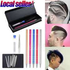 US SHIP Hair Engraving Pen+10 Barber Razor Shaver Beard Design Tattoo Eyebrows