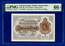 FALKLAND ISLANDS 50 Pence note 20/2/74.PMG Gem UNC EPQ.