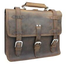 "Full Grain Cowhide Leather 15"" MacBook Pro Bag Briefcase Backpack LB09.VB"