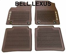 LEXUS OEM FACTORY ALL WEATHER FLOOR MAT SET 2016-2018 ES350 ES300H BROWN