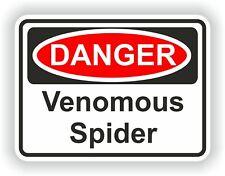 Venomous Spider Danger Sticker Funny for Bumper Bike Truck Laptop Tablet Book