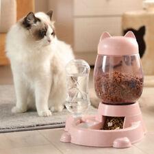 New listing Automatic Feeder Pet Dog Cat Feeding Food Water Auto Dispenser Bowl Dish Us