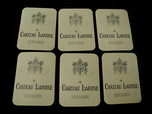 6 sehr alte Weinetiketten Chateau Larose Bordeaux um 1900 very old wine labels