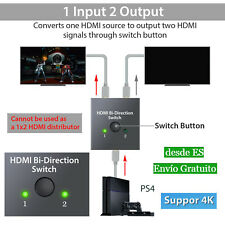 HDMI Switch Conmutador HDMI Switcher Switch 1 a 2 Salida Bidireccional 3D 1080P