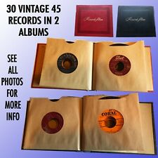 Collection Of 30 Vintage 45 Rpm Records From The Big Band To The 50'S In Albums
