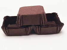 48 Square 1 in Brown Recycled Paper Cupcake Liners Brownie Candy Baking Cups