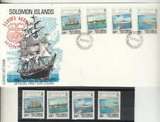 Solomon Isles. 1984 Lloyd's List set of 4 in  MUH + First Day Cover. SG519-522.
