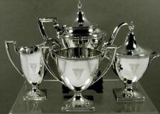 Gorham Sterling Tea Set c1930 ETRUSCAN
