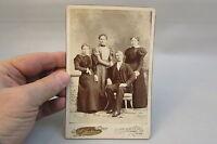 Vintage Antique Photo Cabinet Card Studio Adult family St. Paul Minnesota
