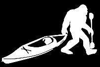 Bigfoot Sasquatch kayak vinyl decal car bumper sticker 114.1